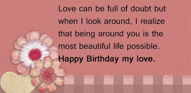 happy birthday love quotes for him