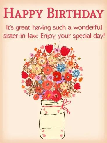 215 Wonderful Happy Birthday Sister In Law Wishes Bayart