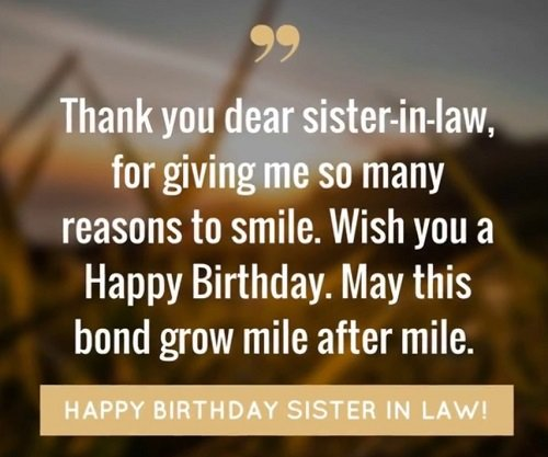 172+ Wonderful Happy Birthday Sister In Law Wishes