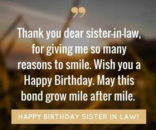172 Wonderful Happy Birthday Sister In Law Wishes Bayart