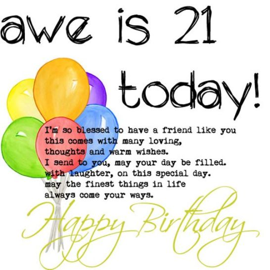 Funny 21st Birthday Cards: 114+ EXCELLENT Happy 21st Birthday Wishes And Quotes