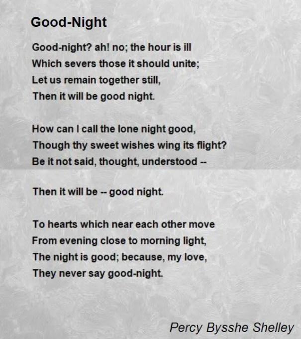 goodnight poems