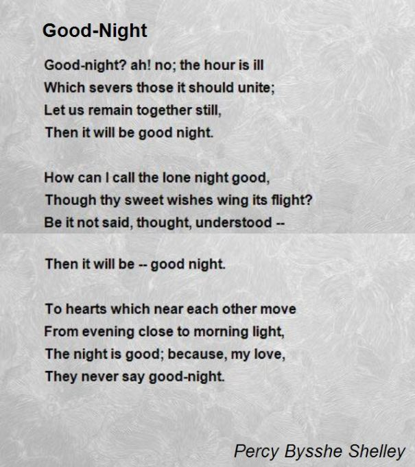 54 Profound Good Night Poems From The Heart And Soul Bayart