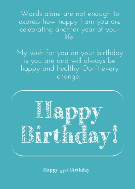 21st Birthday Quotes Mesmerizing 48 EXCELLENT Happy 48st Birthday Wishes And Quotes BayArt