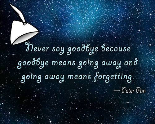 goodbye quotes peter pan