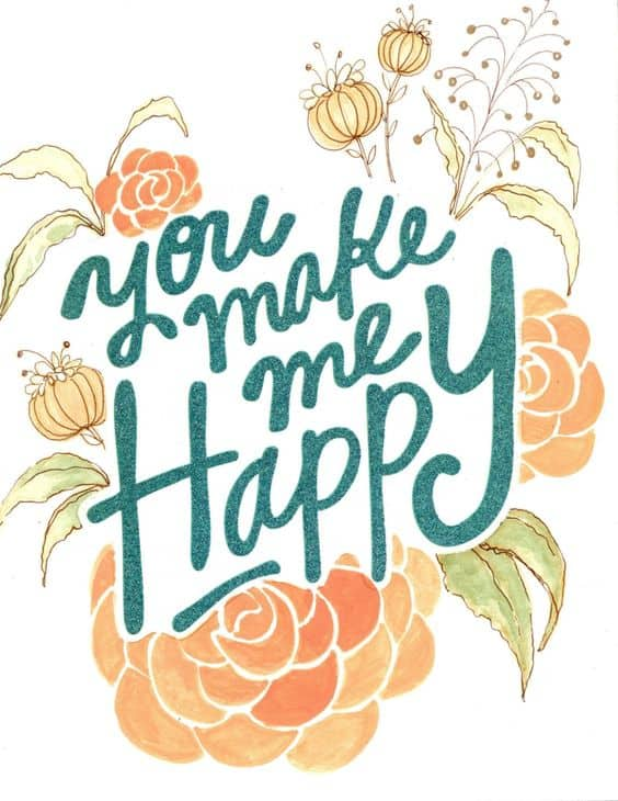 you make me happy love quotes