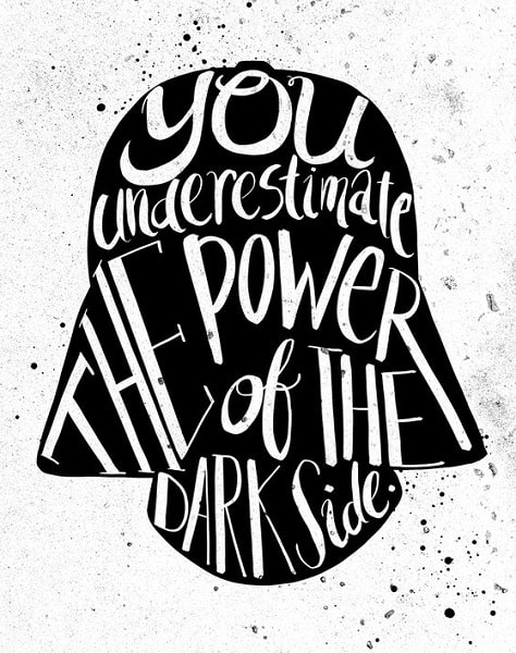 darth vader quotes dark side