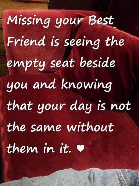 missing friends quotes and sayings
