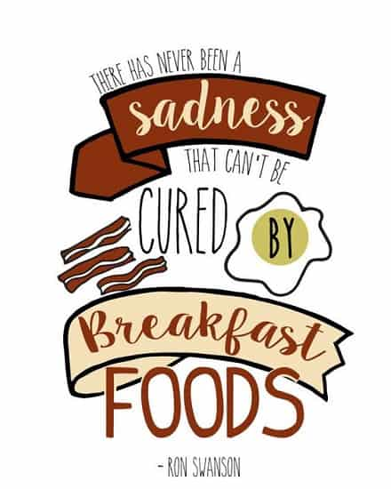 parks and rec quotes about breakfast