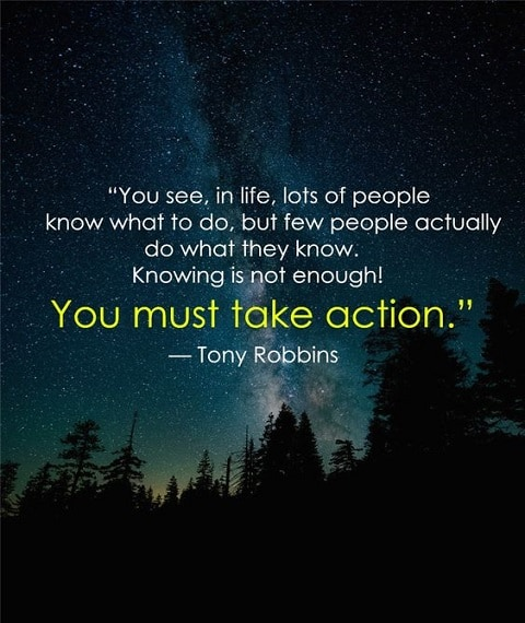 tony robbins quotes on action