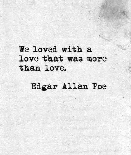 edgar allan poe quotes on love