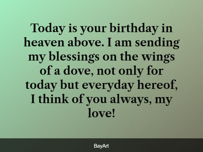 happy heavenly birthday