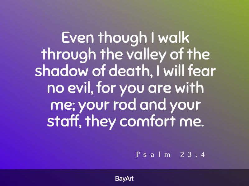 Bible verses of comfort