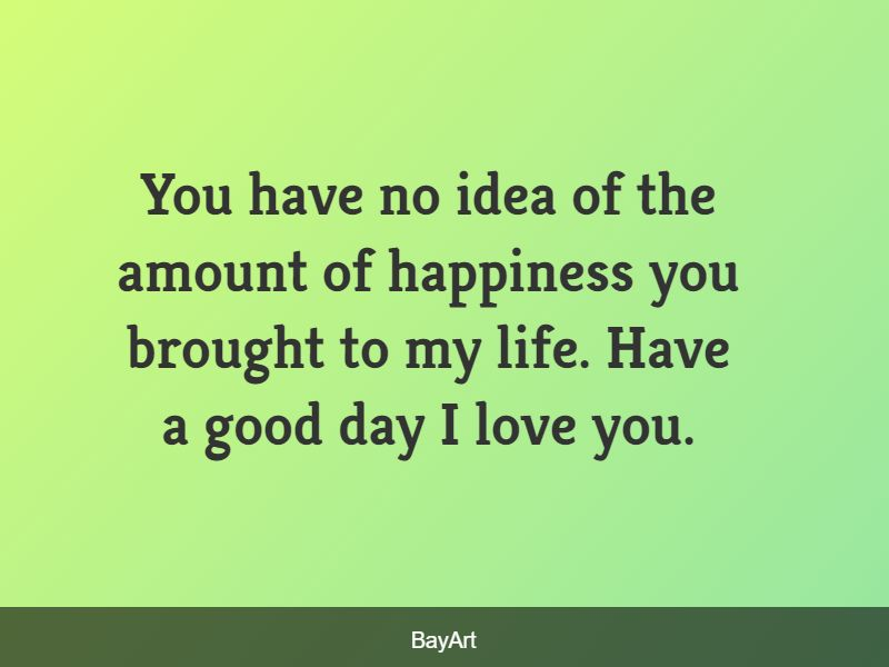 good morning message for my love