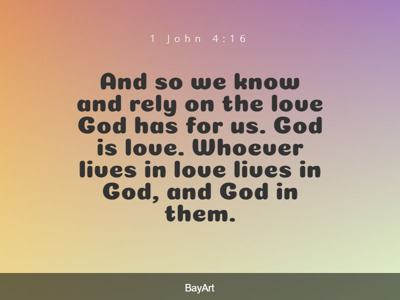 inspirational Bible verses about God's love