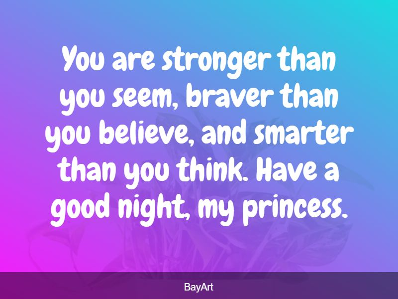 sweet goodnight message for her