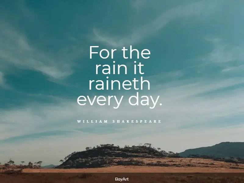 best rain quotes