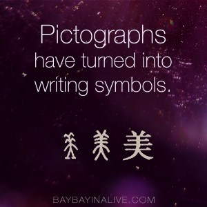Here are examples of how ancient pictographs have evolved into Chinese writing characters... BaybayinAlive.com
