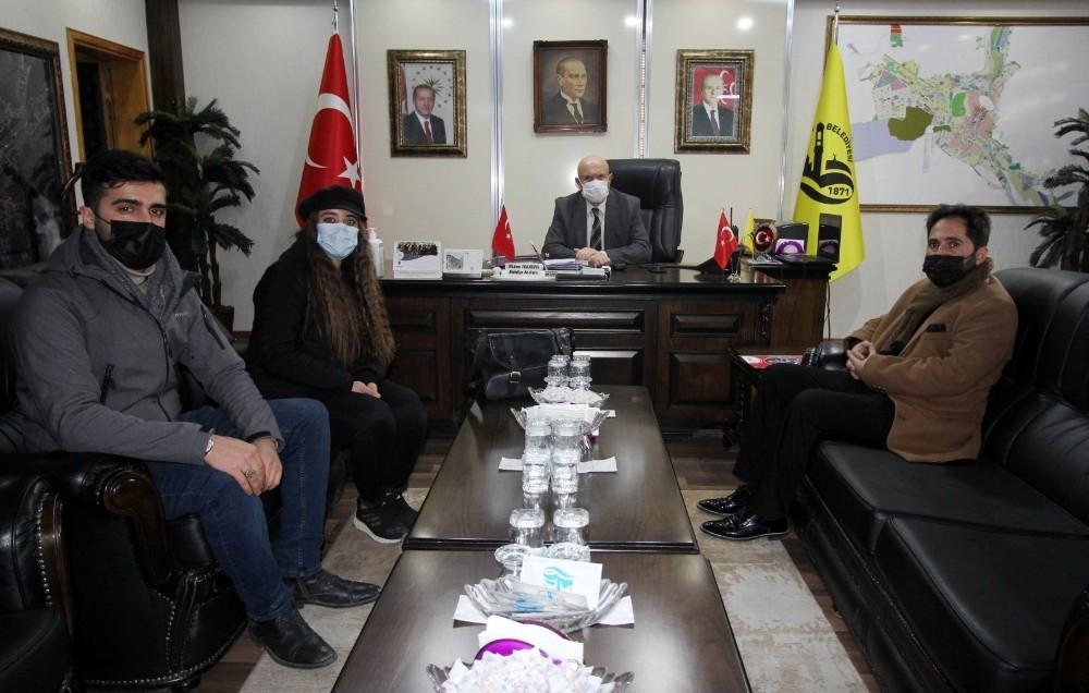 İHA Erzincan Bölge Müdürü Akbuğa'dan, Başkan Pekmezci'ye ziyaret