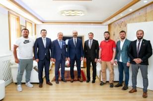 Rektör Türkmen, spor federasyonu başkanlarını ağırladı