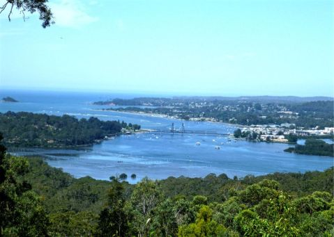 Batemans Bay from Holmes Lookout