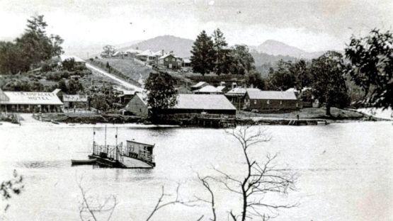Nelligen before the bridge