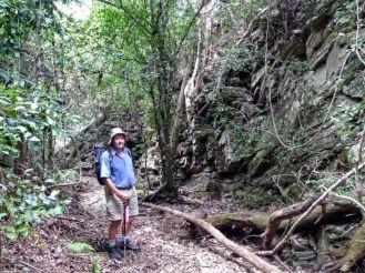 Len in the creek