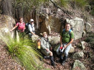 Glen, Sharon, Bob and Rob at another of the mineshafts