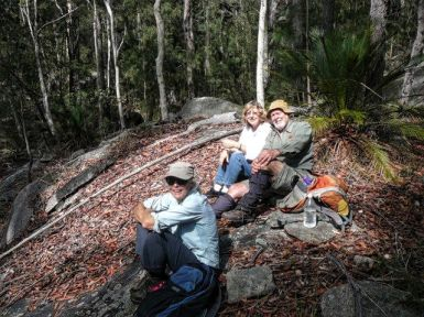Comfy granite outcrop for lunch
