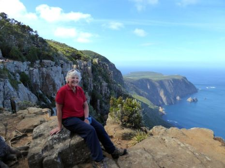 Donna at Cape Raoul