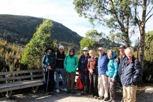 Group sets out for Marions Lookout in Cradle Mountain National Park