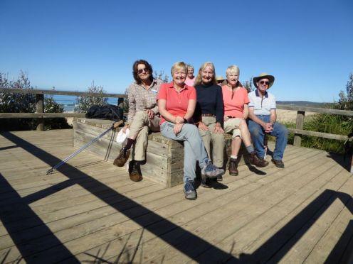Denise, Kay, Carol, Jan, Bob - with Bev and someone else in the back