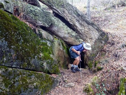 Len finds one of the hundreds of large and small limestone caves in the area