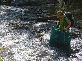 And Kay tested the garbage bag option.