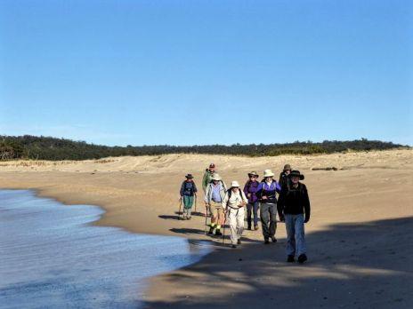Beachwalking at low tide