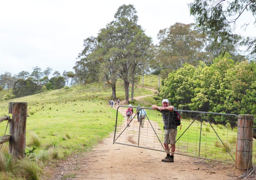 Mark makes sure the gate is closed