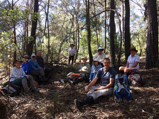 The group at morning tea