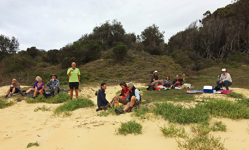 Picnic on the sand at Mullimburra Point
