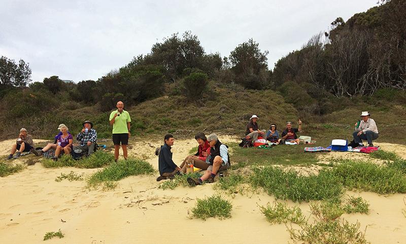 Picnic on the sand at Mullimburra Point