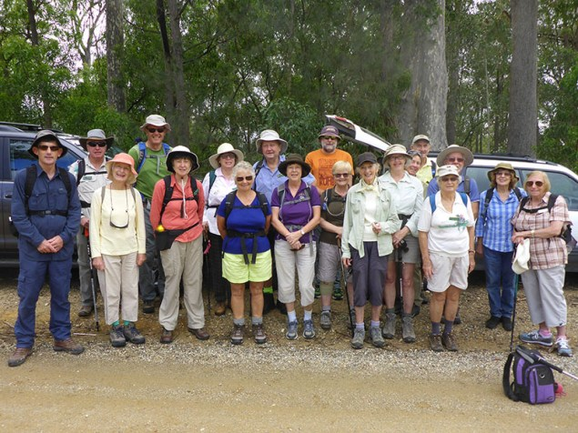 A keen group of walkers