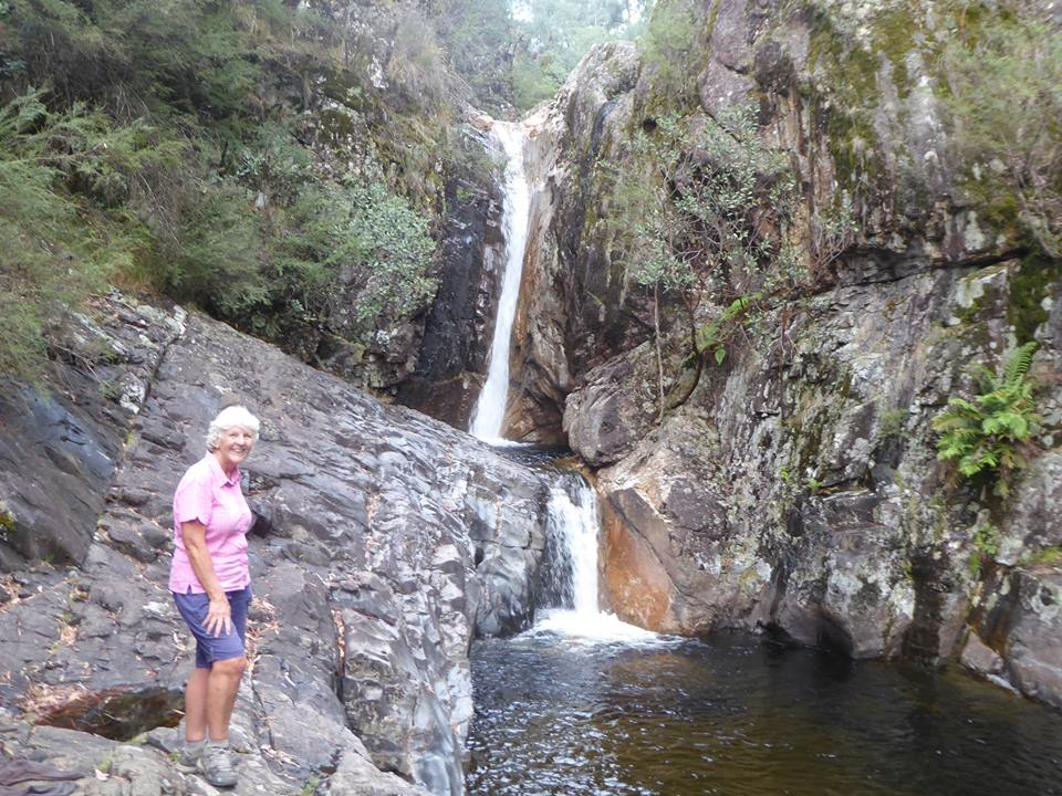 Donna at Lower Rollasons Falls