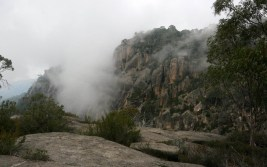 Low clouds over the valley