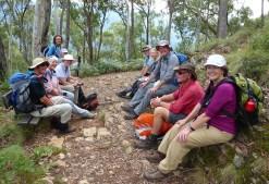 Resting on Bungalow Spur descent