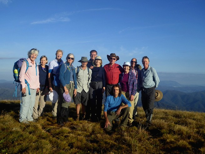 Group at junction with the Bon Accord track