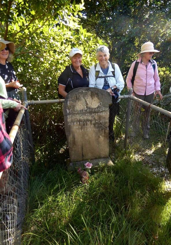 At Elizabeth Malabar's grave