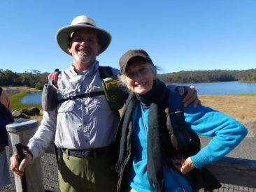 Bob and Val at Deep Creek Dam