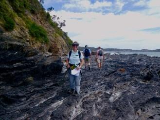 Jill along the rocky coast line.