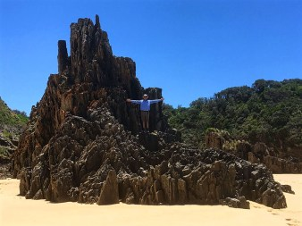 Phillip I scales Cathedral Rock.