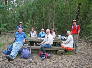 A welcome morning tea at the top of our ascent.