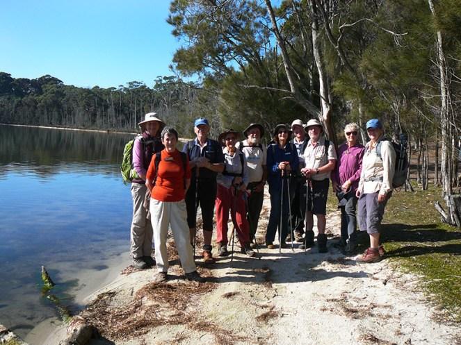 Club members at Brou Lake.